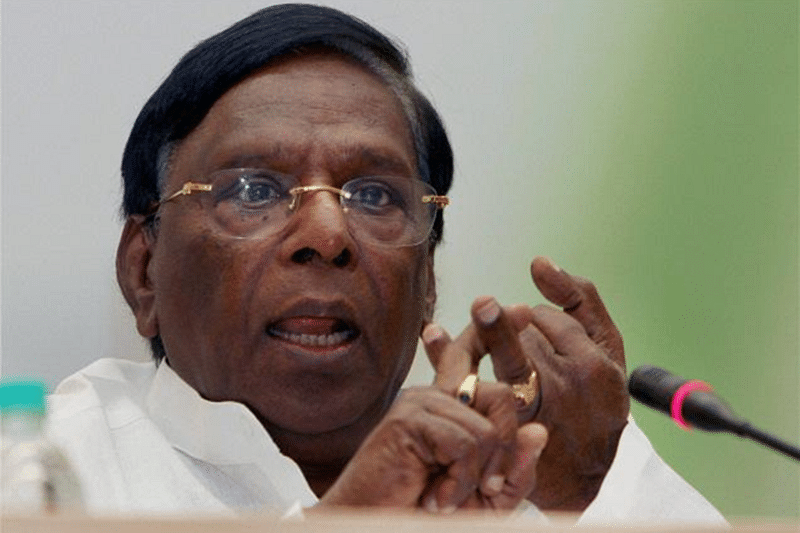 Puducherry CM V Narayanasamy protest against Governor gets DMK support