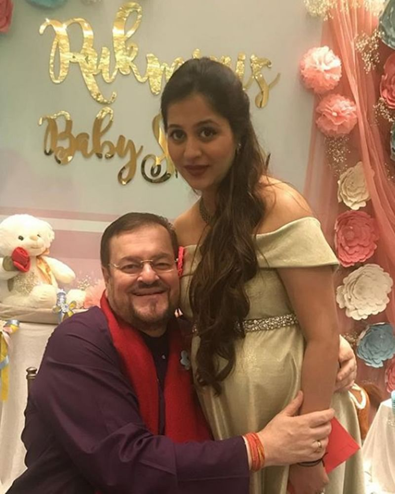 Check out cute picture of Neil Nitin Mukesh's wife Rukmini Sahay's baby shower with father-in-law