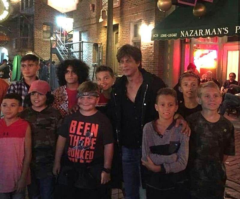 Shah Rukh Khan celebrates Eid in Orlando with Zero crew