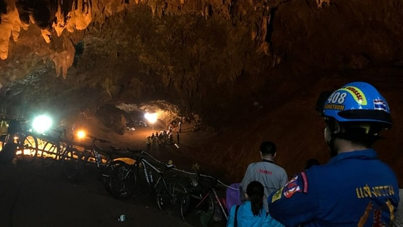 Thailand: Rescue operations on for boys football team, coach trapped in Tham Luang cave