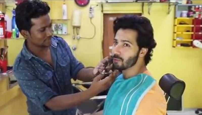Watch: Varun Dhawan aka Mauji goes to a local barber to get into 'Sui Dhaaga' moustached look