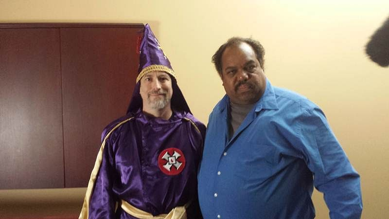 Daryl with Imperial Wizard Frank Ancona (left)