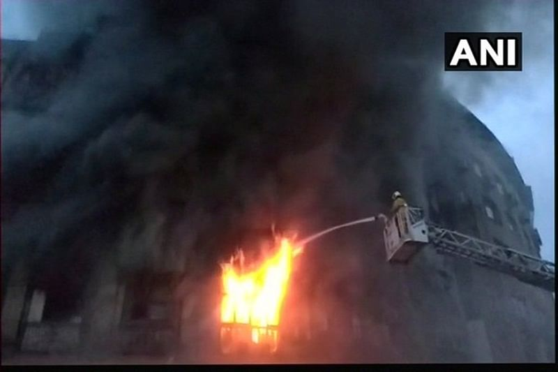 Mumbai: Massive fire breaks out in Fort area, 2 fire officials injured