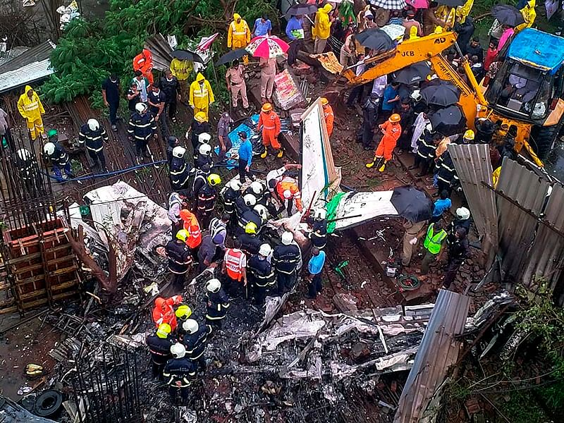 Mumbai Plane Crash: Pall of gloom grips woman pilot's complex in Kashimira