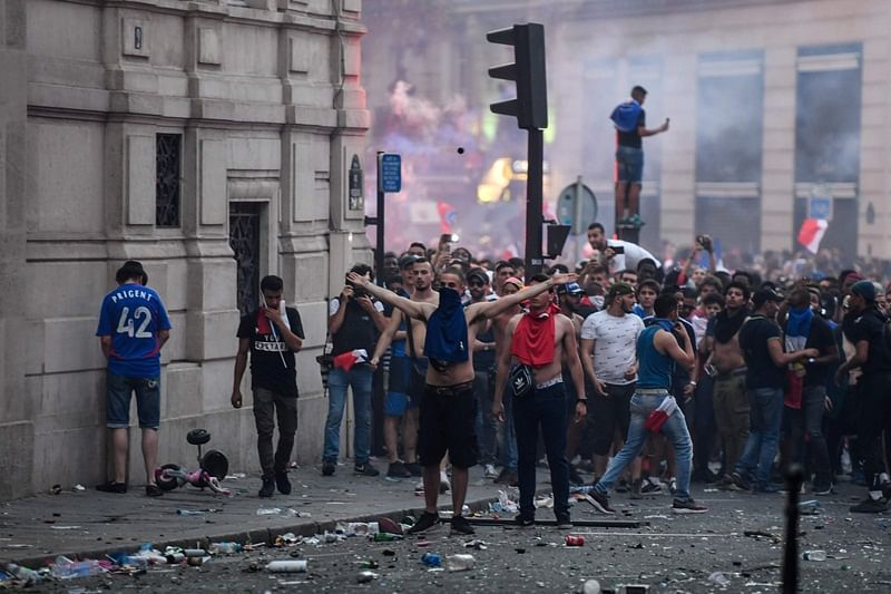 FIFA World Cup 2018: Clashes, road accidents mar French World Cup victory celebrations