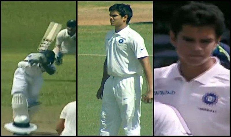 Watch Video: Arjun Tendulkar scalps maiden international wicket; Vinod Kambli cries tears of joy