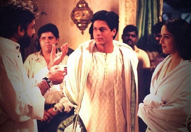 16 Years of Devdas: Madhuri Dixit gets nostalgic, shares throwback pic with SRK, Sanjay Leela Bhansali
