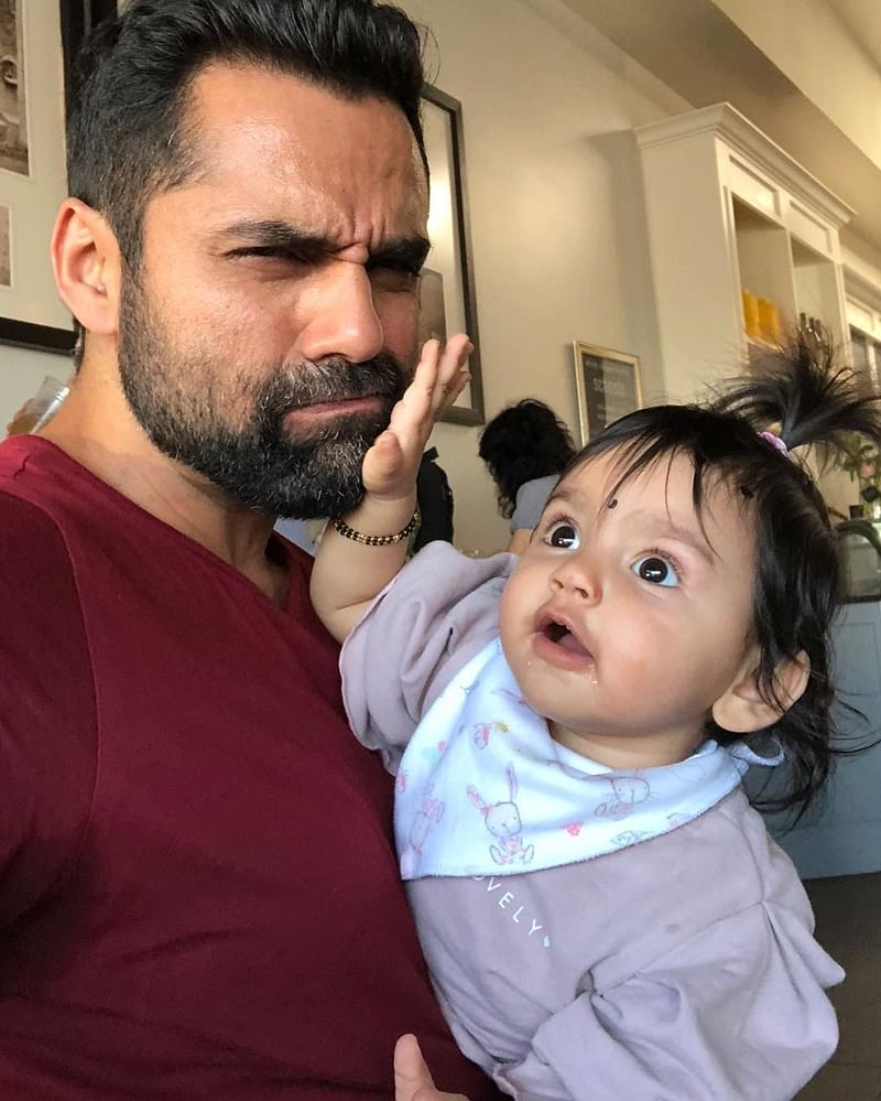 Esha Deol's daughter Radhya Takhtani is a sassy baby; this pic with Uncle Abhay Deol says it all