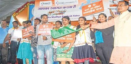 Bhopal: Startup India Madhya Pradesh Yatra flagged off