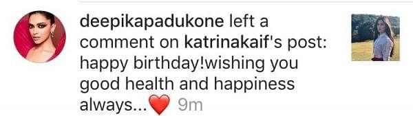 From one Ranbir Kapoor ex to another! Deepika Padukone wishes Katrina Kaif on her 35th birthday