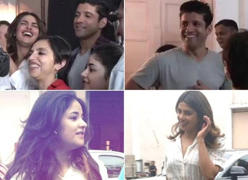 Peek into the prep session ofPriyanka Chopra, Farhan Akhtar and Zaira Wasim starrer 'The Sky Is Pink'