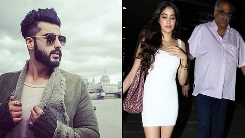 Janhvi Kapoor breaks down at 'Dhadak' screening after brother Arjun and dad Boney warmly hugged her