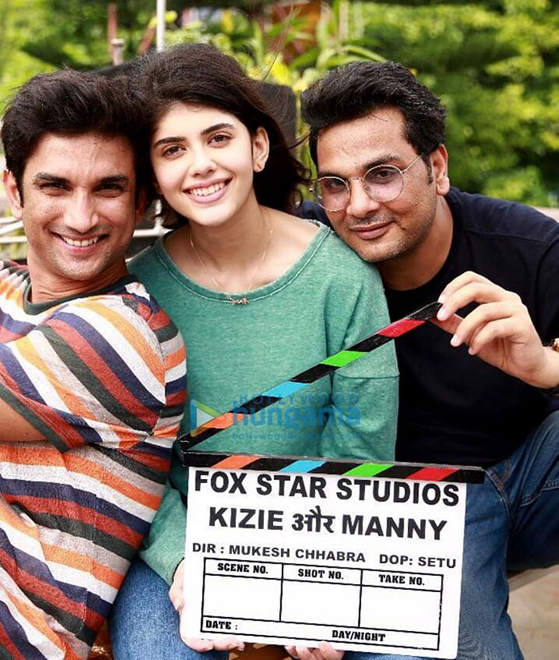 'Kizie Aur Manny': Here's the first glimpse of Sushant Singh Rajput and Sanjana Sanghi from the sets of 'The Fault In Our Stars' remake