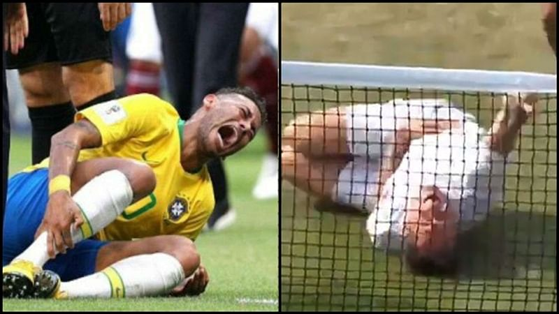 Watch Video: Neymar's 'diving' theatrics at FIFA WC mocked by tennis player at Wimbledon