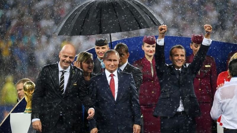 FIFA World Cup 2018: Vladimir Putin's umbrella hogs all limelight at presentation ceremony