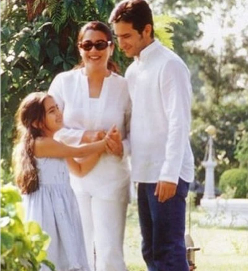 Sara Ali Khan's childhood picture with Saif Ali Khan and Amrita Singh will remind you of happier times!