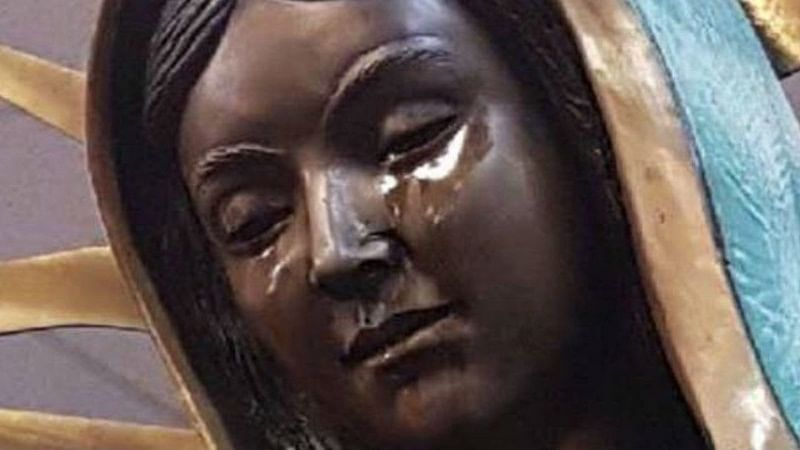 US: 'Weeping statue of Virgin Mary' inside Catholic Church attracts worldwide attention
