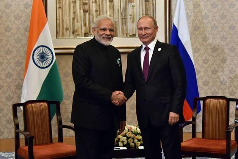 PM Narendra Modi meets Russian President Vladimir Putin on sidelines of BRICS Summit