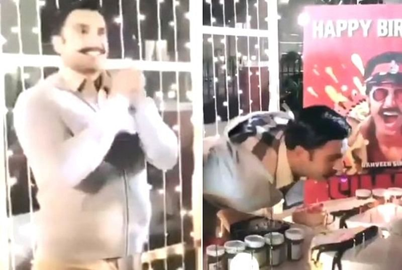 Watch: Ecstatic Ranveer Singh celebrates 33rd birthday on the sets of 'Simmba' in Hyderabad