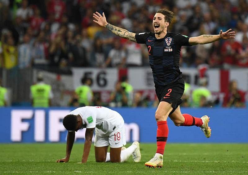 Croatia's defender Sime Vrsaljko
