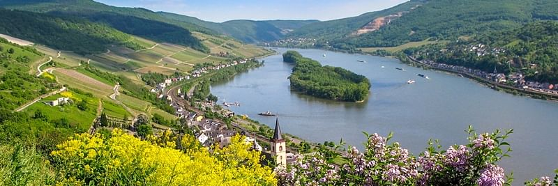 Scenic Landscape at middle Rhine