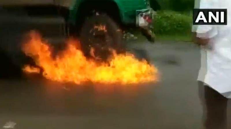 Watch! Milk protest turns violent, milk shop truck set on fire in Malegaon
