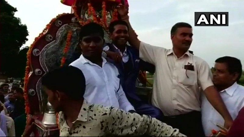 Dalit groom takes out wedding procession in a Thakur dominated area in Kasganj after 80 years