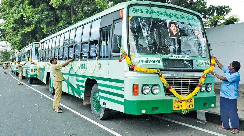 Tamil Nadu Chief Minister K Palaniswami flags off over 500 new buses