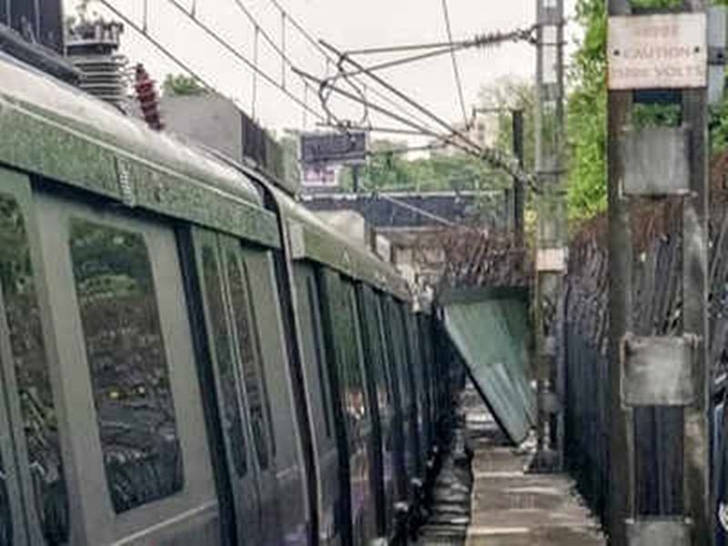 Delhi Metro's violet line services disrupted after railing collapses due to heavy rains