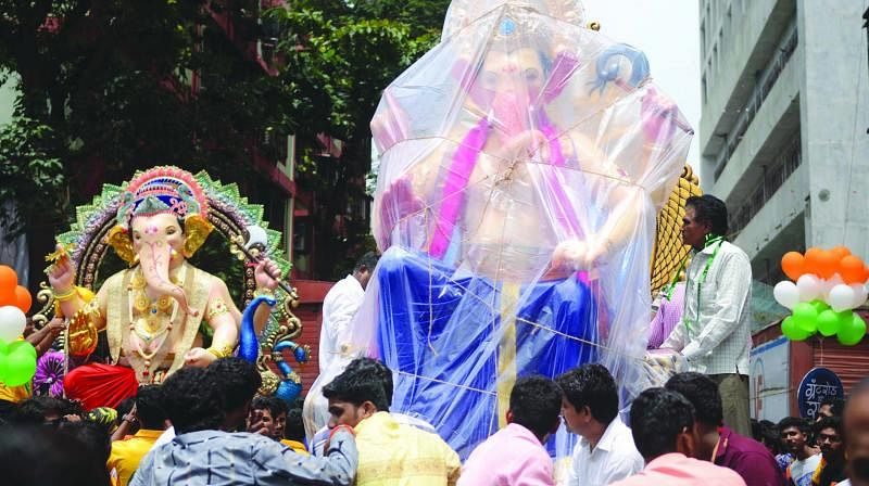 Mumbai Plastic Ban: BMC allows use of plastic to cover Ganesh idols in rain