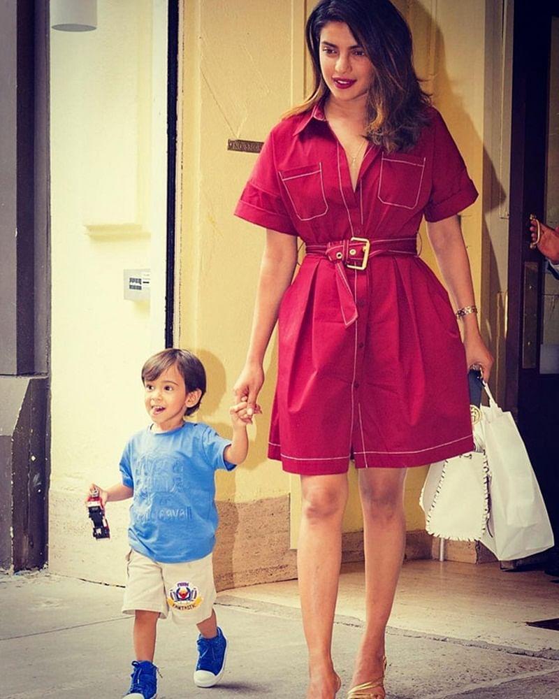 See pics, Priyanka Chopra walks hand in hand with Salman Khan's nephew Ahil in New York