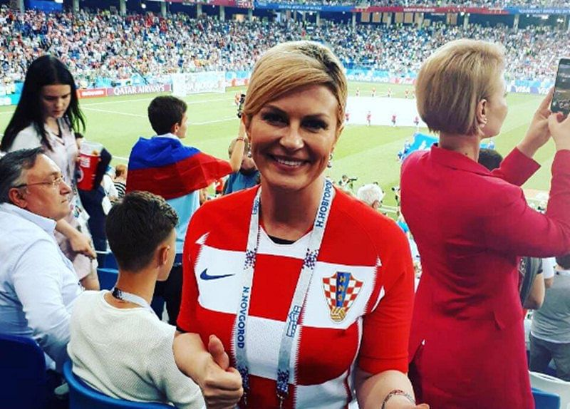 See Pics: Croatian President Kolinda Grabar-Kitarovic wins over the Internet with her charm at FIFA World Cup 2018 final