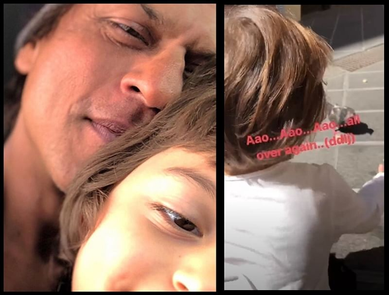 Watch: Shah Rukh Khan's son AbRam recreates this iconic scene from 'DDLJ'
