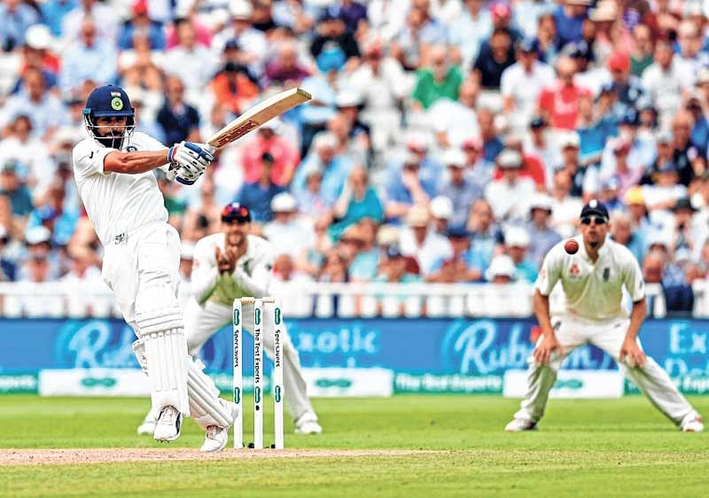 Ruthless Kohli scores first Test century in England to help India post 274 on second day