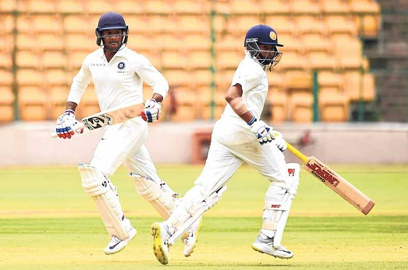 Mayank Agarwal hits double ton, Prithvi Shaw century for India 'A'