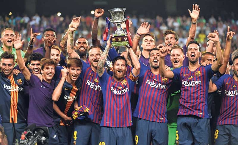 Messi's Barcelona lift Supercup