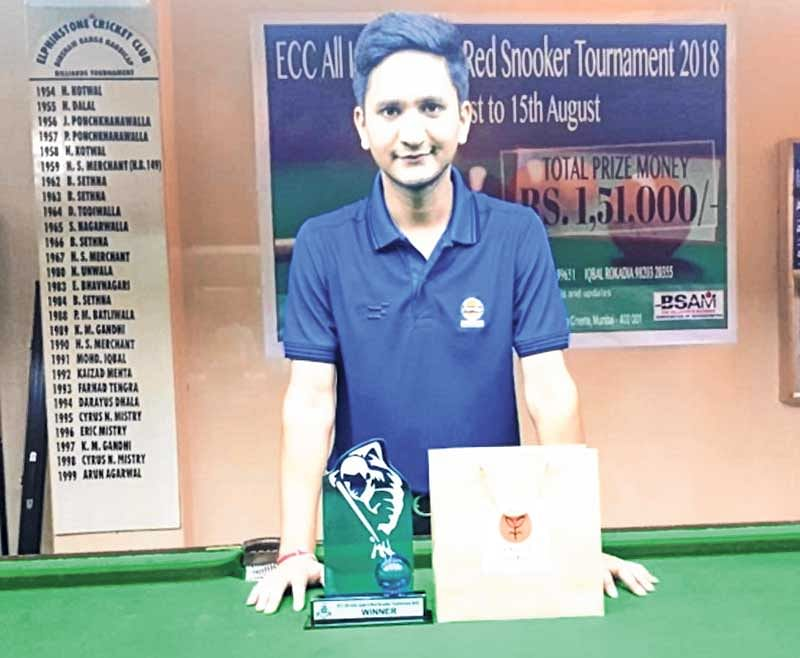 Laxman Rawat claims top honours in ECC All India Open 6-Red Snooker Tournament