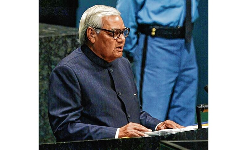Atal, 1st leader to address UN in Hindi