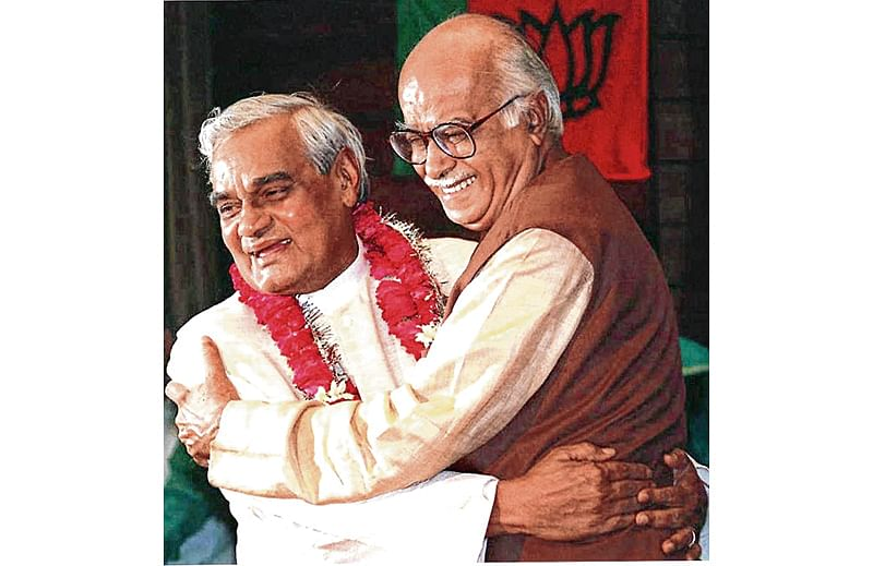 Moderate Atal rose on base built by hardliner Advani