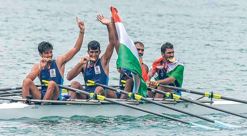 Asian Games : Indian rowers sing redemption song with historic gold and two bronze medals to finsh on a high