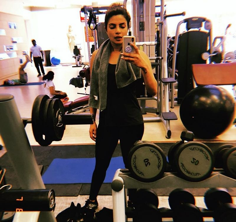 LOL! Ranveer Singh asks Priyanka Chopra if she eats 'chivda' post-workout