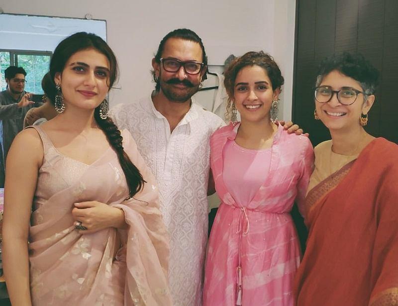 Dangal sisters Fatima Sana Shaikh,Sanya Malhotra celebrate Eid al-Adha with Aamir Khan