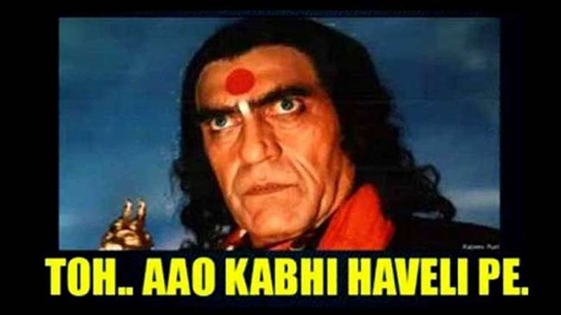 Aao Kabhi Haveli Pe memes featuring Amrish Puri inspired this song from 'Stree'
