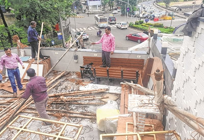 Mumbai: BMC takes action against Spices and Flavours restaurant for illegal structure