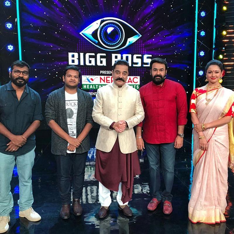 Vishwaroopam 2 star Kamal Haasan meets Mohanlal on the sets of Bigg Boss Malayalam; see pics