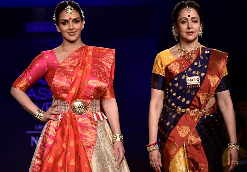 Lakme Fashion Week 2018: Esha Deol, Hema Malini turns head in traditional avatar on final day