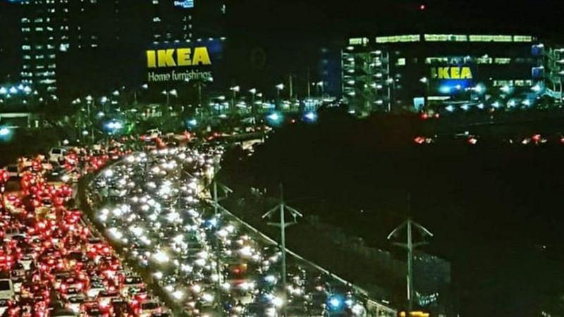 What an IKEA? Hyderabad turns Mumbai as photo of massive traffic jam goes viral