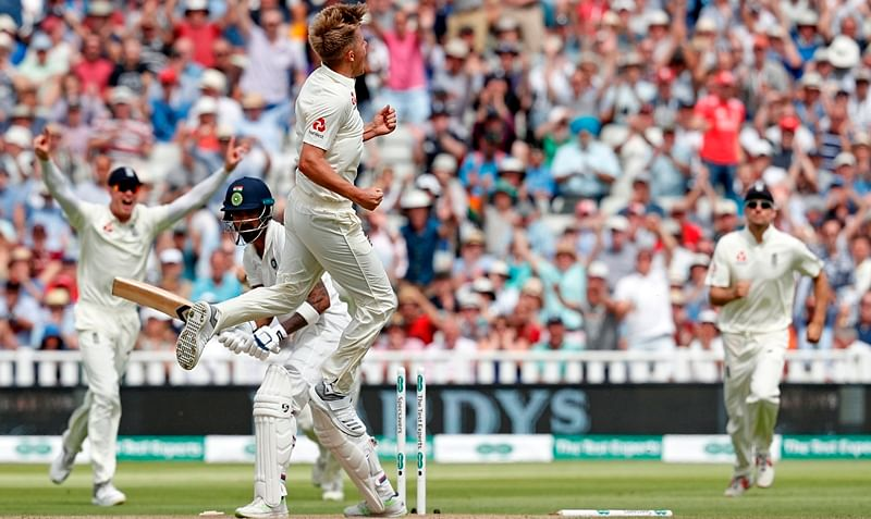 India struggling at 167/5 in pursuit of 464-run target at lunch on Day 5