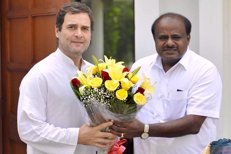 Kumaraswamy meets Rahul Gandhi, urges to give nod for Karnataka cabinet expansion