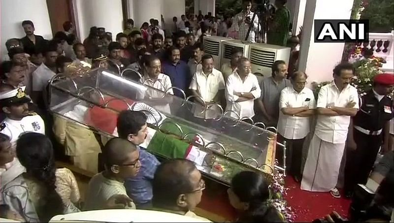 Karunanidhi passes away: People throng Rajaji Hall to pay last respects to Karunanidhi